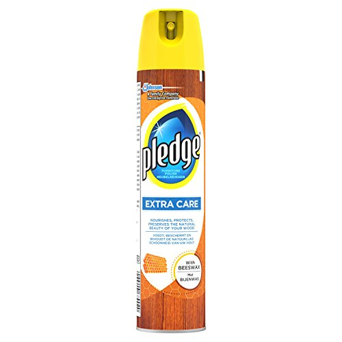 Pledge Extra Care Furniture Polish with Beeswax Aerosol Spray, 250 ml, Pack of 4