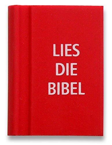 °° Radiergummi ROT 'Bibel' in Buchform, 3 x 4 cm