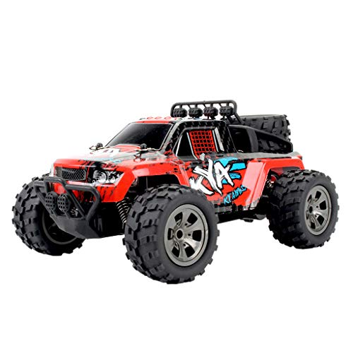 Htfrgeds RC Truck 1:18High Speed Racing Car, 2WD Off-Road Waterproof Vehicle 2.4Ghz Radio Remote Control Monster Truck Dune Buggy Hobby Toys for Kids & Adults -