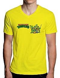 The Turtles Teenage Mutant Ninja Graphic Design Men's V-Neck T-Shirt