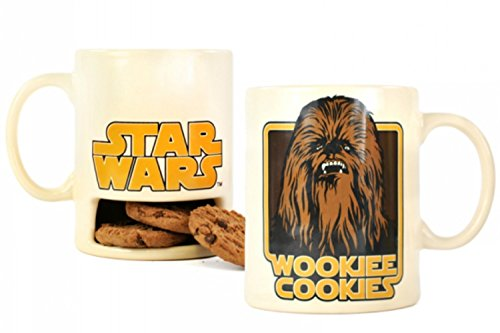 Star Wars Tasse mit Keksfach Wookiee Cookies, Edelstahl, weiß, 9 x 4 x 4 cm