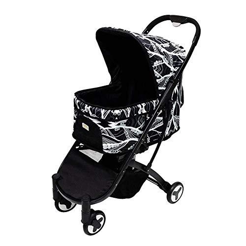 Wcxxhy Hundekinderwagen, Kinderwagen Kinderwagen Träger Outdoor Travel Folding Pet Trolley for Teddy Cat Behinderte Baby Warenkorb (Color : Black) (Baby Für Abdeckungen Warenkorb)