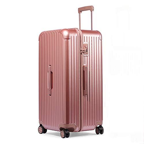 Koffer, Trolley, Carry Kursteilnehmer auf Gepäck Holdall Baglightweight ABS Hartschalen-Reisen in Gepäck-Koffer-Schach halten,Rosa,26in
