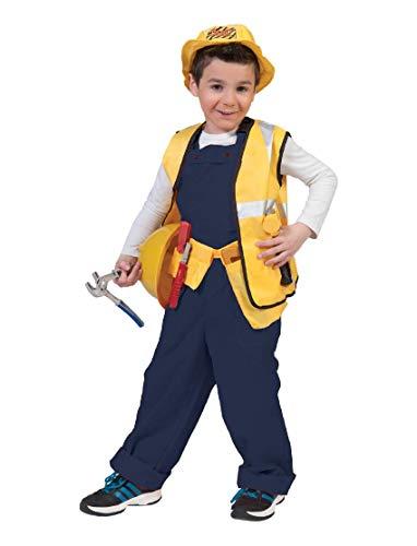 Kostüm Latzhose Bodo orange Kind Größe 116 Kinderkostüm Jungen Mädchen Bauarbeiter Handwerker Gärtner Clown Karneval Fasching Pierro\'s