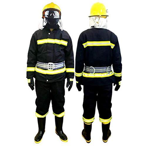 Protezione Generale e Sicurezza Lavoro Protezione antincendio Abbigliamento Protettivo Cinque Pezzi ad Alta Temperatura antistatica Impermeabile (Dimensioni : XL, Stile : Thicker Section)