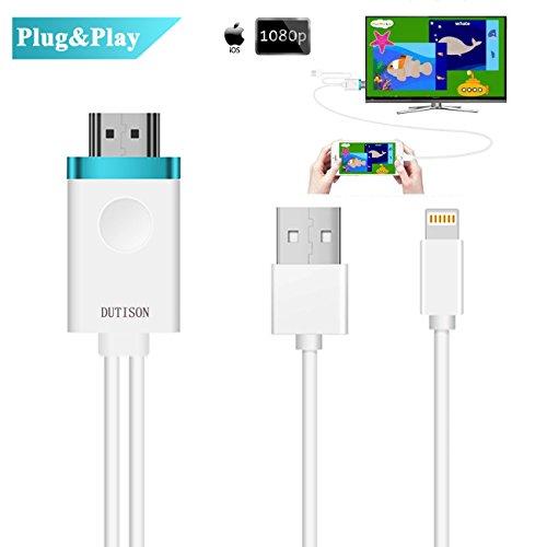 Lightning auf HDMI Kabel, DUTISON 1080P Lightning Digital AV Adapter Spiegelung für Heimkino Projektor TV Kompatibel mit iPhone/iPad/Touch (Support iOS 9+)