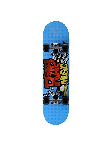 Skatemax Skateboard Junior Rock Music für Kinder 5 bis 6Jahre-Blau
