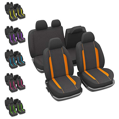 DBS - Housses de sièges - Voiture/Auto - Orange - Universelles - Anti-dérapant - Lavable