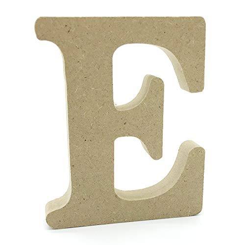 Lettres en Bois, Toifucos 10cm A-Z DIY Alphabet Anglais Ornaments D'artisanat pour Accueil Mariage Anniversaire Décoration de fête Accessoires, 1 pcs E
