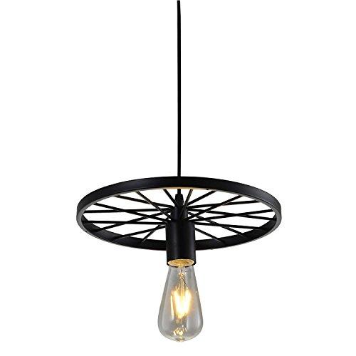 Splink Vintage Pendelleuchte Retro Deckenlampe Kronleuchter Industrial E27 Deckenlampe Hängeleuchte Metalle Rad Design