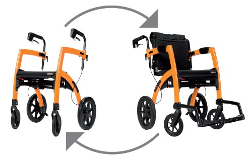 Rollz Motion All in one Rollator & Wheelchair Orange by Rollz Motion