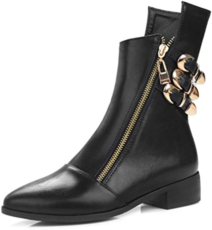 KUKI otoño e invierno botas mujer botas marrones botas negras botas de gran tamaño botas botas baratas , black...