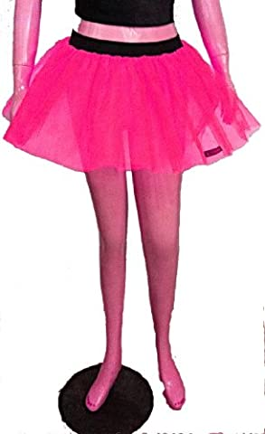 Neon Uv Hot Pink Tutu Petticoat Skirt Punk Cyber Rave Dance Hen Fancy Costumes Party UK Free Shipping by Sparksland