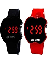 Divine Black And Red Apple Cut Watch For Kids And Boys And Girls Watch - For Boys & Girls