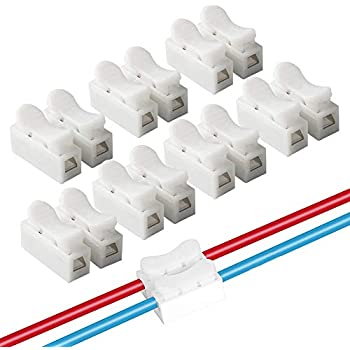 fularr 68pcs ch2 spring wire connectors, quick connector spring  fularr 68pcs ch2 spring wire connectors, quick connector spring connector, electrical cable clamp terminal