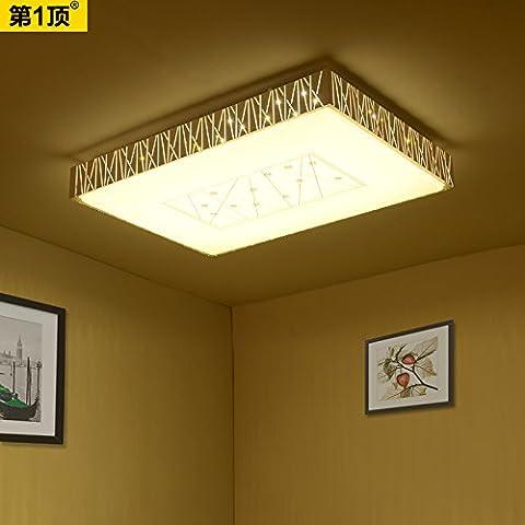 Naso minimalista moderna PLAFONIERA LED rettangolare soggiorno lampada camera da