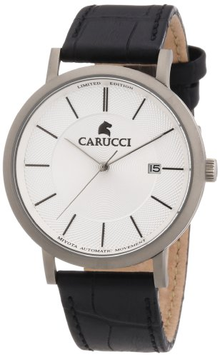 Carucci Watches Men's Automatic Watch CA2192SL with Leather Strap