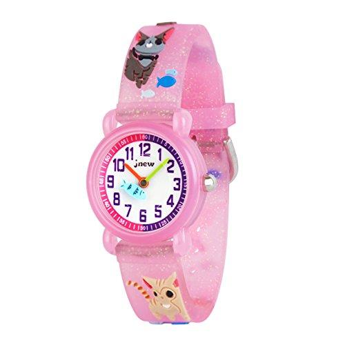 Mädchen Jungen Kleine Kinder Niedlich Uhr Armbanduhr Zeit Lehrer,Silikon Kinderuhr 3D Cute Cartoon Wasserdicht Lehruhr Geschenk für Kids Kinder Kleine Mädchen Jungen