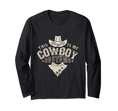 Kostüm Lustige Western Country - Dies ist mein Cowboy Kostüm Lustiges Western Geschenke Langarmshirt