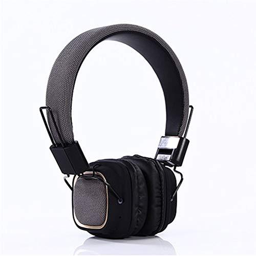 Sicher Passen Plüsch (Bluetooth-Kopfhörer über dem Ohr, kabelloses Stereo-Headset, faltbar, Plüsch-Ohrpolster mit strapazierfähigem Kopfbügel für die Reise TV-Handy/PC-Grey)
