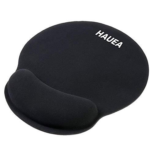 HAUEA ergonomische Mauspad Gel Handgelenkauflage Maus Handballenauflage Anti-Sehnenscheidenprobleme für Computer und Laptop,schwarz