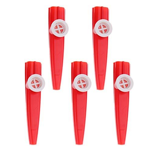 FLAMEER 5er Pack Kunststoff Kazoos Percussion Instrument Für Kinder Kinder