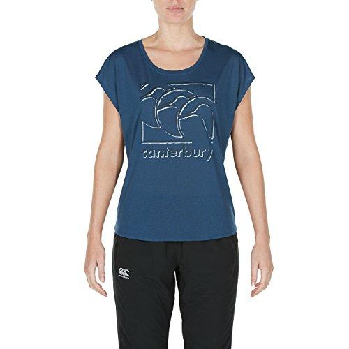 Canterbury Ccc Graphic, T-Shirt Donna Dark Denim