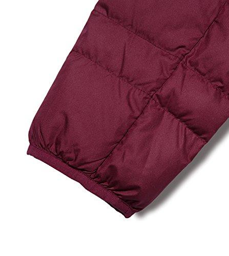 Lapasa Giacca da Donna Piumino Corto Cappotto Invernale Leggero e Caldo Manica Lunga Bordeaux