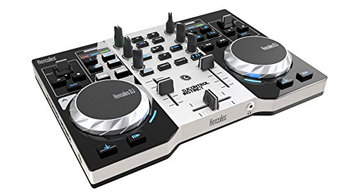Hercules DJ Control Instinct S Series (2-Deck DJ Controller, integr. Soundkarte, DJUCED 18°, PC / Mac) (Musik Mixer)