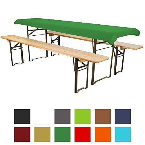 Tischdecke für Bierzeltgarnitur - 90x240 cm (für Tischbreite 70 cm) grün