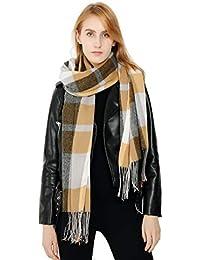 a5823df889af Femme Fille Tartan carreaux plaid Extra Longue Écharpe Wrap Châles Etole  Glands Tassel