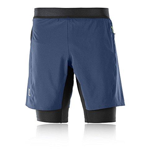 Salomon Fast Wing TwinSkin Shorts - SS18 Blue