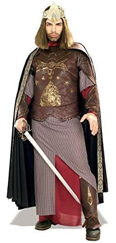Rubie's 3 56032 - Deluxe Aragon King of Gondor Kostüm, Größe M/L, braun/beige/rot/gold (Kostüm Frodo)