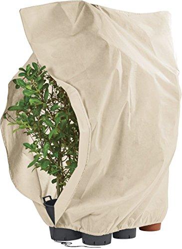 FLORABEST® XXL Pflanzen-Frostschutzvlies mit Reißverschluss und Kordelzug, ca. 2,40 x 2,00 m (sand)