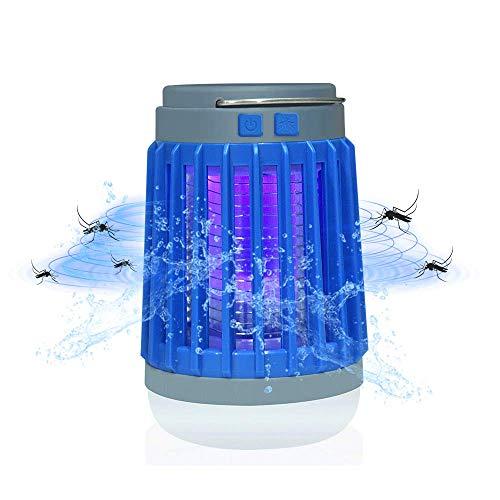 Bonlux Multifonction Lampe Solaire Anti Moustique Electrique avec LED Lumière UV, 200-500lm Etanche IP67 Portable USB Rechargeable Randonnée Lanterne pour Extérieur/Intérieur Camping Chamber