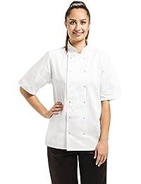 Unisex Whites Vegas Chefs Jacket Short Sleeve Cook Kitchen Working Uniform Top
