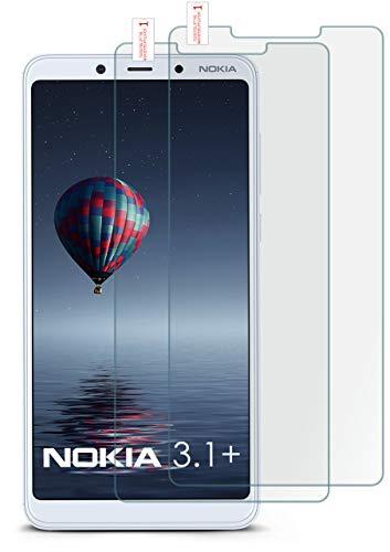 moex 2X 9H Panzerfolie für Nokia 3.1 Plus | Panzerglas Bildschirm Glasfolie [Tempered Glass] Screen Protector Glas Bildschirmschutz-Folie für Nokia 3.1 Plus Schutzfolie