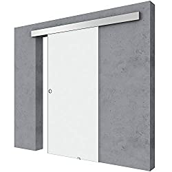 Durovin 775mm Safety Glass Interior Sliding Door Include Hardware Track Kit - Fully Frosted - Round Handle - Without Soft Close