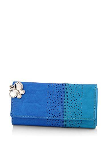 Butterflies Women's Wallet (Blue) (BNS 2391BL)