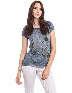 Abbino 16T57 Basics Camisetas Tops Camisas para Mujer - Hecho en ITALIA - 6 Colores - Entretiempo Primavera Verano...