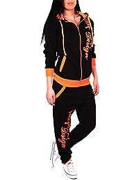 Sportanzug Damen Fr/ühling Herbst Kapuzenpullover O-Ausschnitt Mode Farbblock Sweatshirt Langarm Hoodie Anzug mit Kapuzen Jumper Hoodie Oberteile Lange Hose Sporthose Freizeitanzug