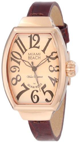 Glam Rock MBD27088 - Orologio da polso, pelle, colore: marrone