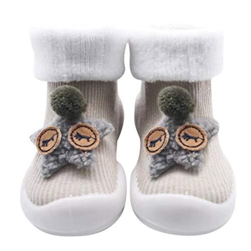 Chaussures Premiers Pas BéBé Fille Garçon Chaussettes de Noël Doux Souple Princesse, Binggong Chaussure Fille Père Noël Doux Sole Prewalker Chaussures de Maison antidérapantes pour BéBé 0-43mois