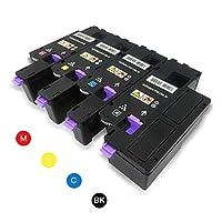 Spécification   Cartouches de toner compatible Dell 1250c à utiliser sur les imprimantes laserjet Dell C1760nw C1765nf C1765nfw 1250c 1350cnw 1355cn 1355cnw  Page Rendement, 2000 pages pour le noir, 1400 pages pour Cyan Magenta Jaune avec une couve...