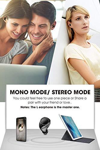 Auriculares Bluetooth 5.0 Dudios Zeus TWS True Wireless Cascos Inalámbricos Invisibles In- Ear Mini Gemelos IPX5 con Micrófono Manos Libres