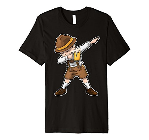 OKTOBERFEST Lederhosen Sanftes T Shirt Bier Kellner DAB Tees