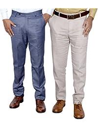 Indistar Combo Offer Mens Formal Trouser (Pack Of 2) - B01JRW6WHQ