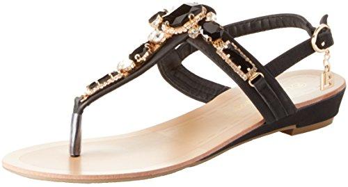 Laura biagiotti patricia, sandali con cinturino alla caviglia donna, nero, 37 eu