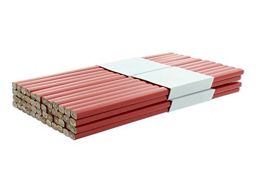 Zimmermannsbleistift rot, viereckig 250 mm 48 Stück
