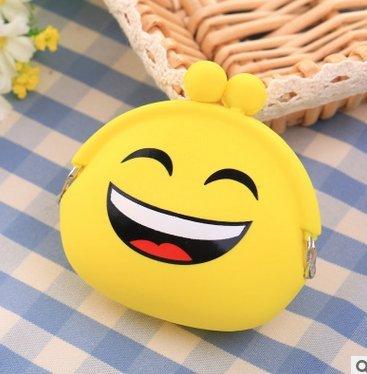 Outflower Damen Münzbörsen Münzbeutel Täschchen Portemonnaie Make-up Taschen Kosmetiktasche Niedliches Smiley-Gesicht Muster